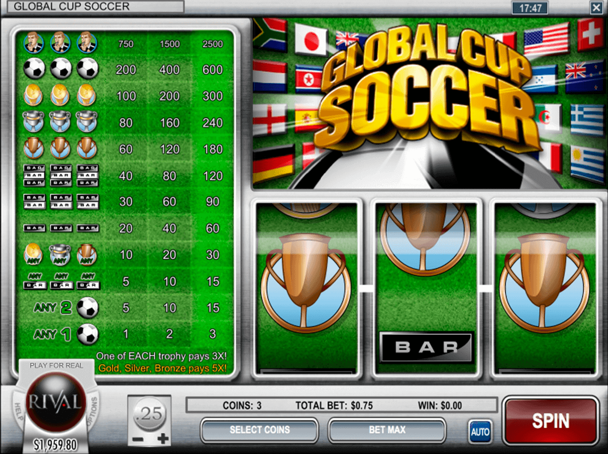 global cup soccer rival casino slots