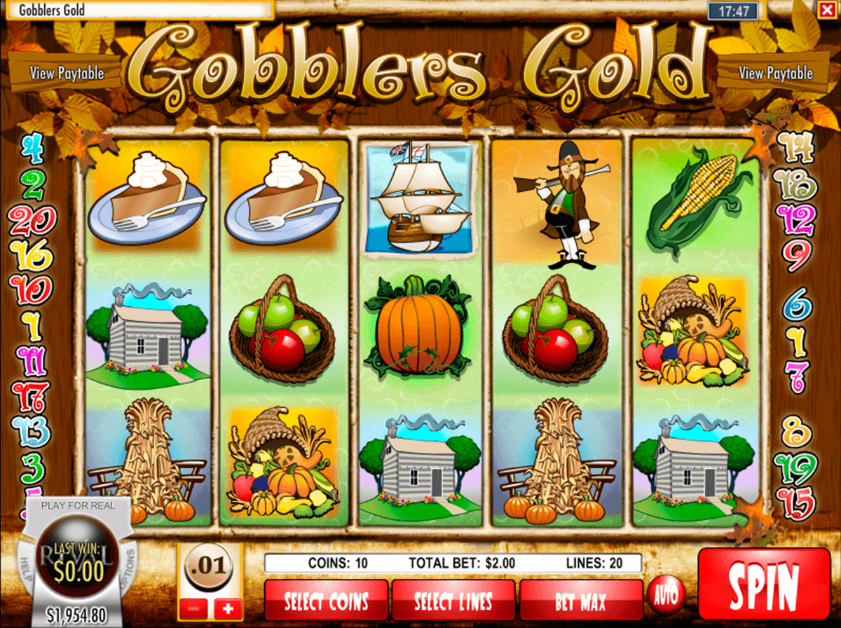 GOBBLERS GOLD RIVAL CASINO SLOTS