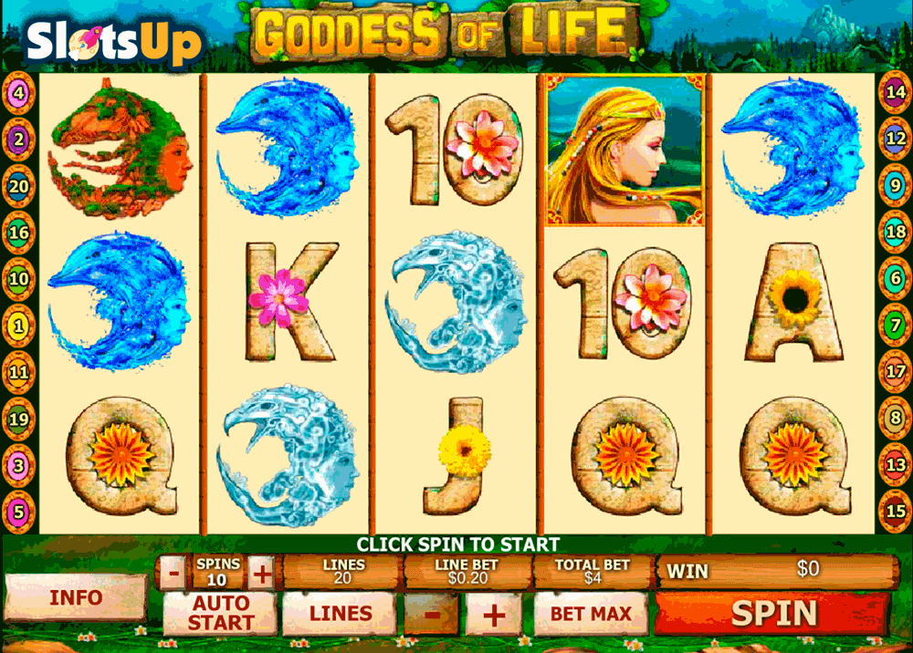 GODDESS OF LIFE PLAYTECH CASINO SLOTS