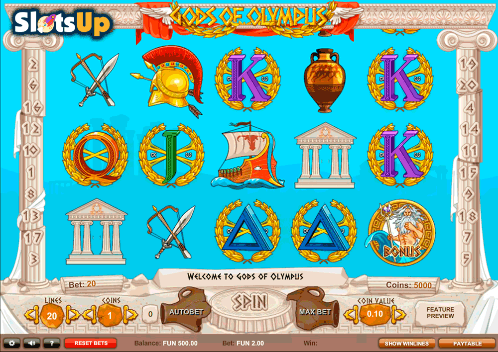 Gods of Olympus Online Slot Review - Play the Free Game Now