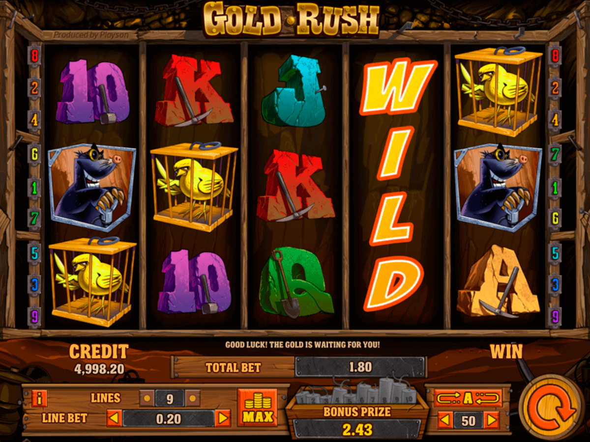 Gold Rush™ Slot Machine Game to Play Free in NetEnts Online Casinos
