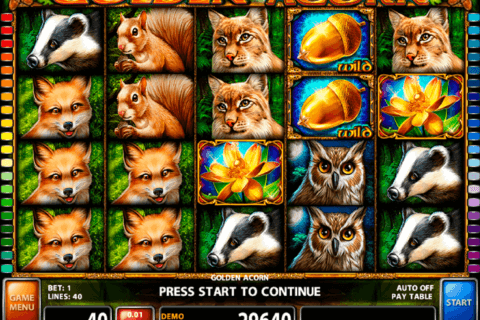 GOLDEN ACORN CASINO TECHNOLOGY SLOT MACHINE