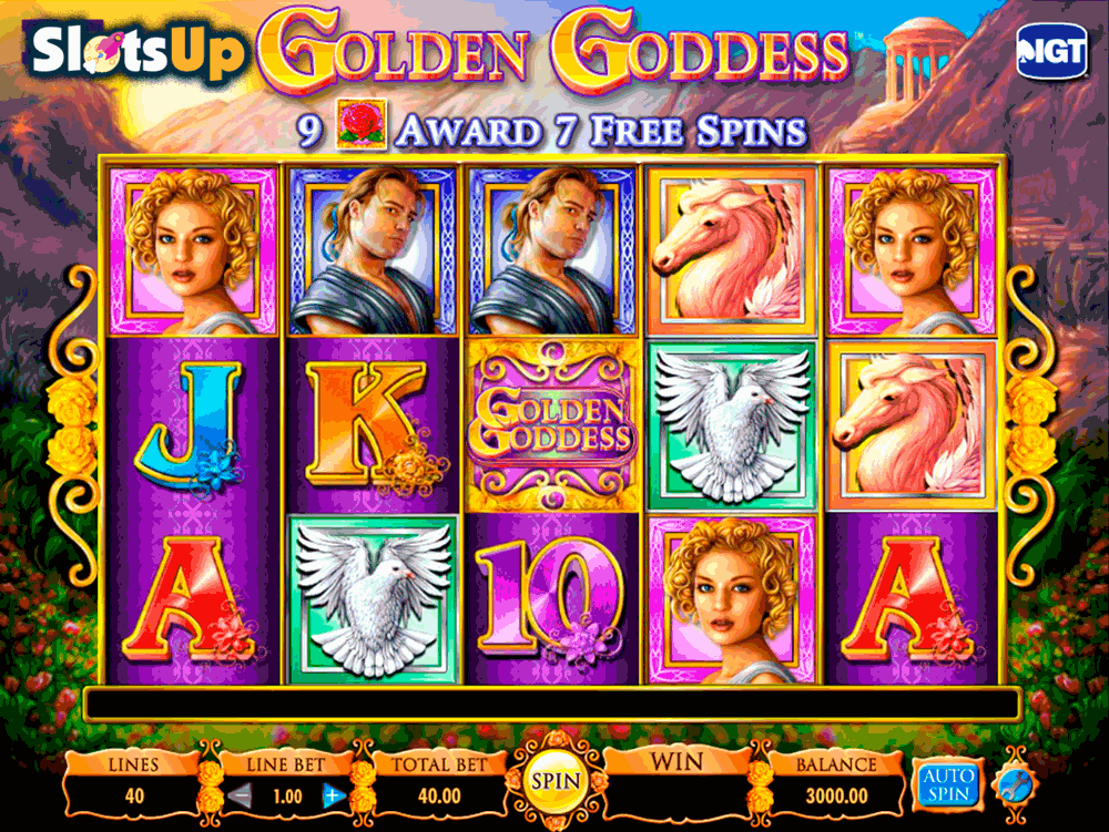 Golden Goddess Slots - IGT Golden Goddess Slot Machine