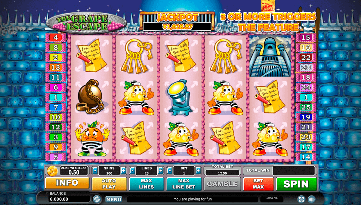 GRAPE ESCAPE HABANERO SLOT MACHINE