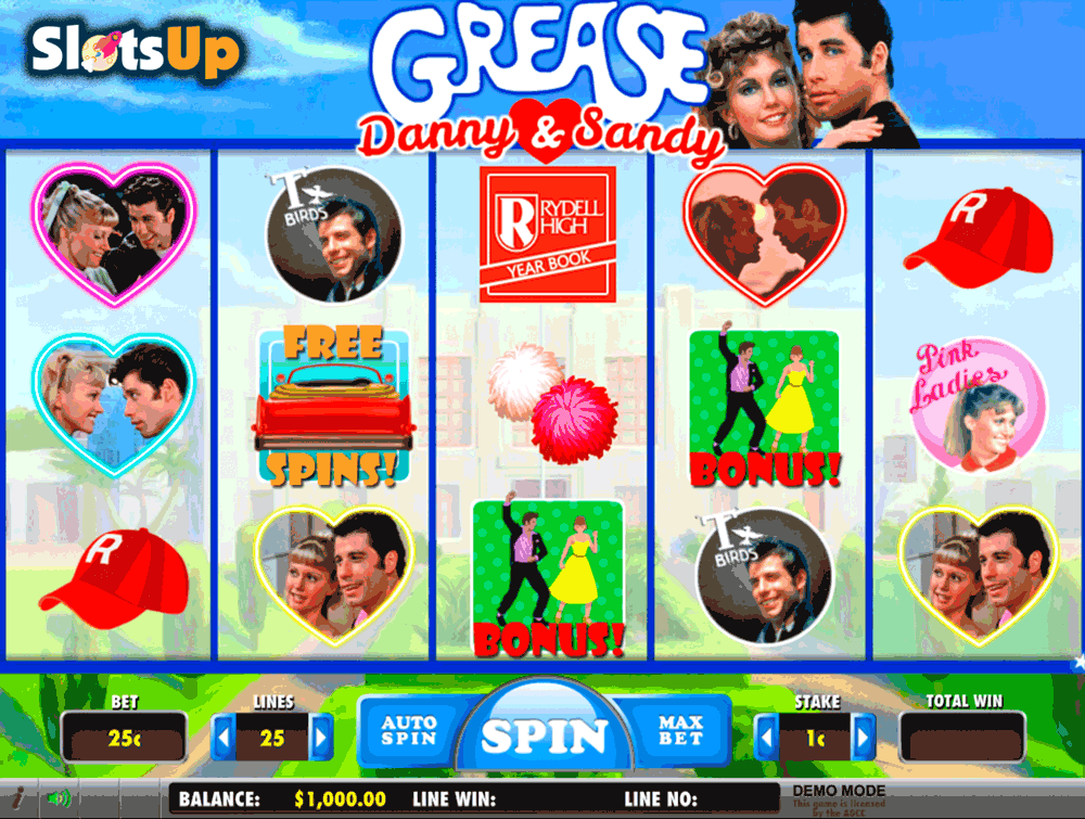 Grease Pink Ladies & T-Birds Slots – Play for Free or Real