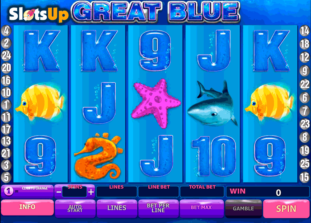 GREAT BLUE PLAYTECH CASINO SLOTS