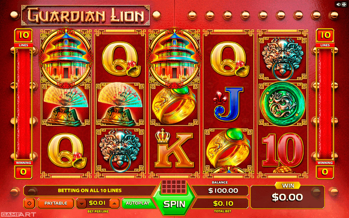 Festive Lion Slot Machine - Play Online Slots for Free