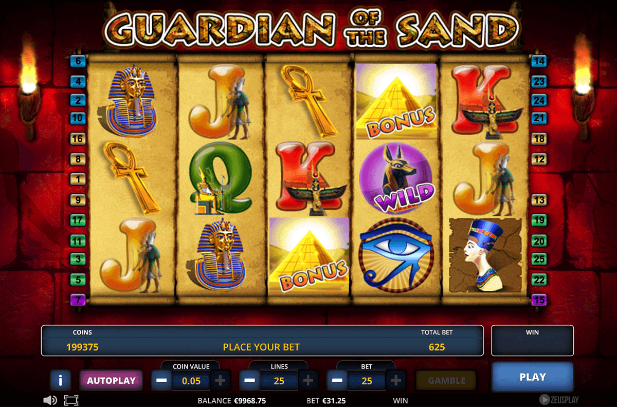 Guardian of the Sand Slot Machine - Play for Free Online