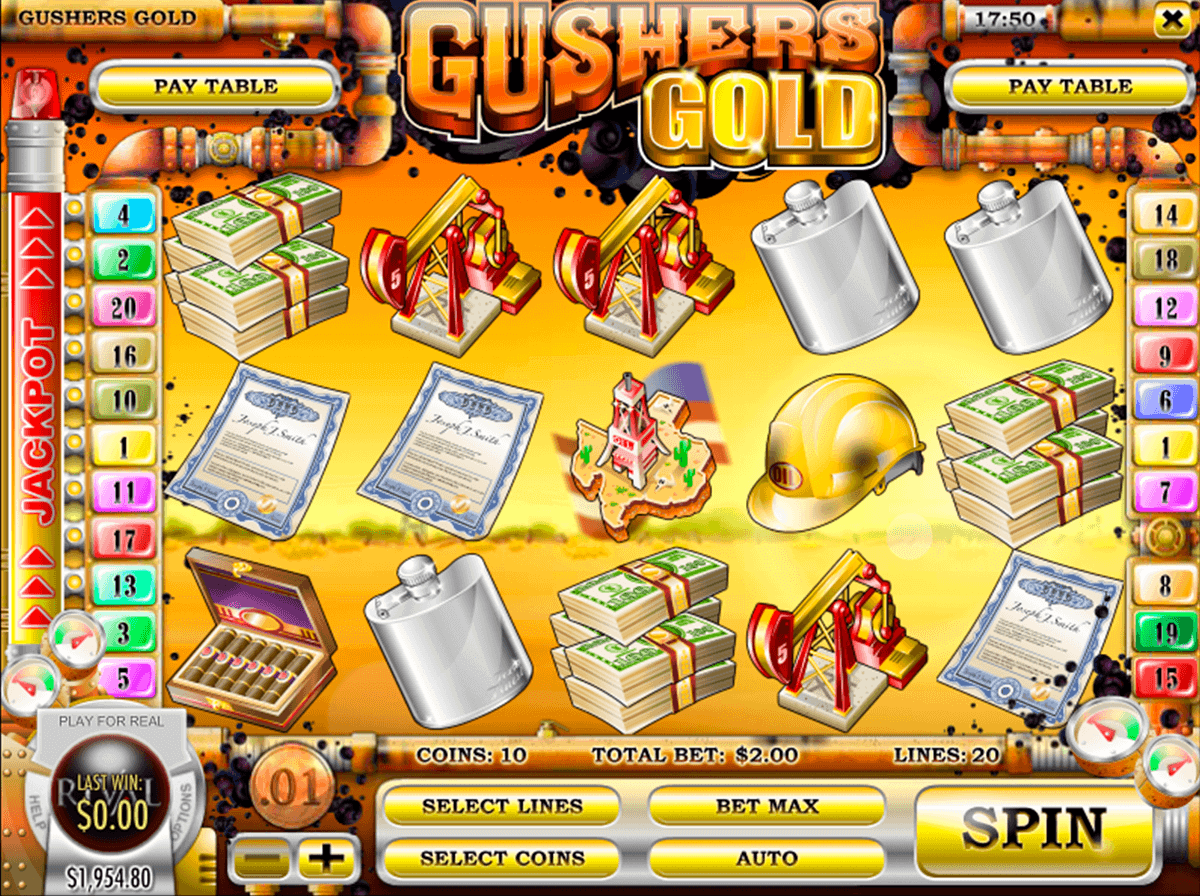 GUSHERS GOLD RIVAL CASINO SLOTS