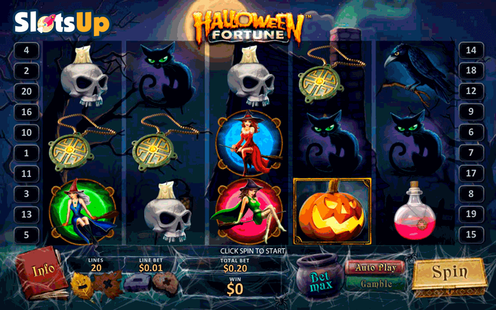 HALLOWEEN FORTUNE PLAYTECH CASINO SLOTS