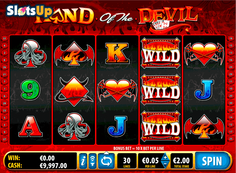 hand of the devil bally casino slots