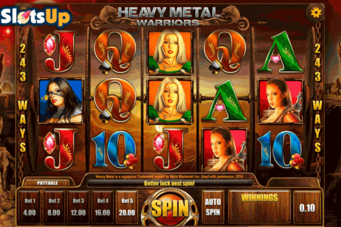 HEAVY METAL WARRIORS ISOFTBET CASINO SLOTS
