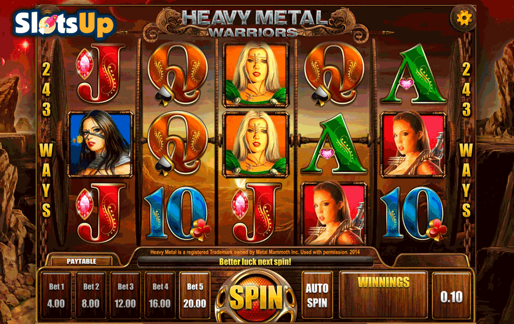 Heavy Metal™ Slot Machine Game to Play Free in Microgamings Online Casinos