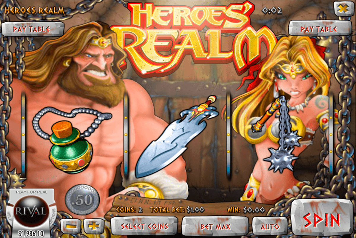 Heroes Realm Slot - Play Rival Gaming Slots Online for Free