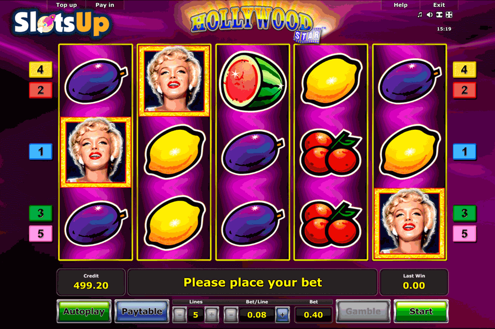 hollywood star novomatic casino slots
