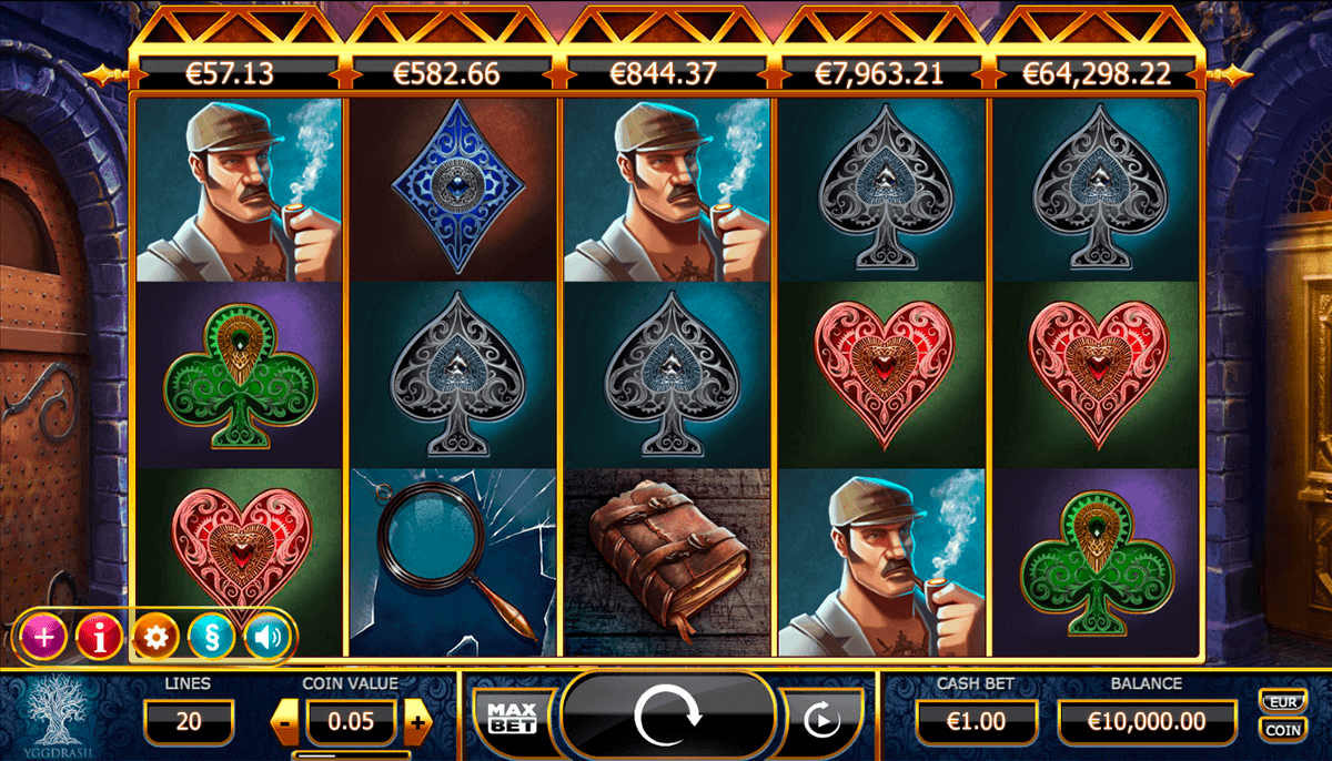 HOLMES AND THE STOLEN STONES CASINO SLOTS