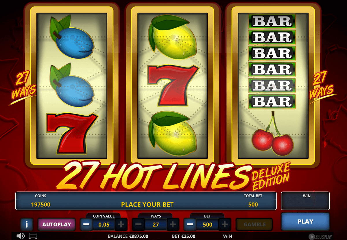 Hot 27 Lines Deluxe Edition Slot Machine Online ᐈ Zeus Play™ Casino Slots