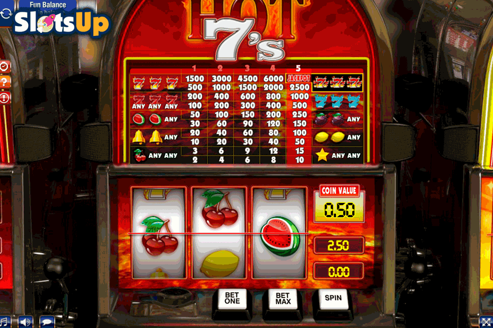 Burning Hot 7's Slot Machine - Play for Free Online