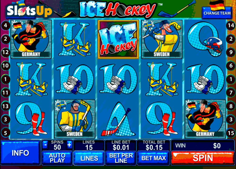Hockey League Slot - Play this Game for Free Online