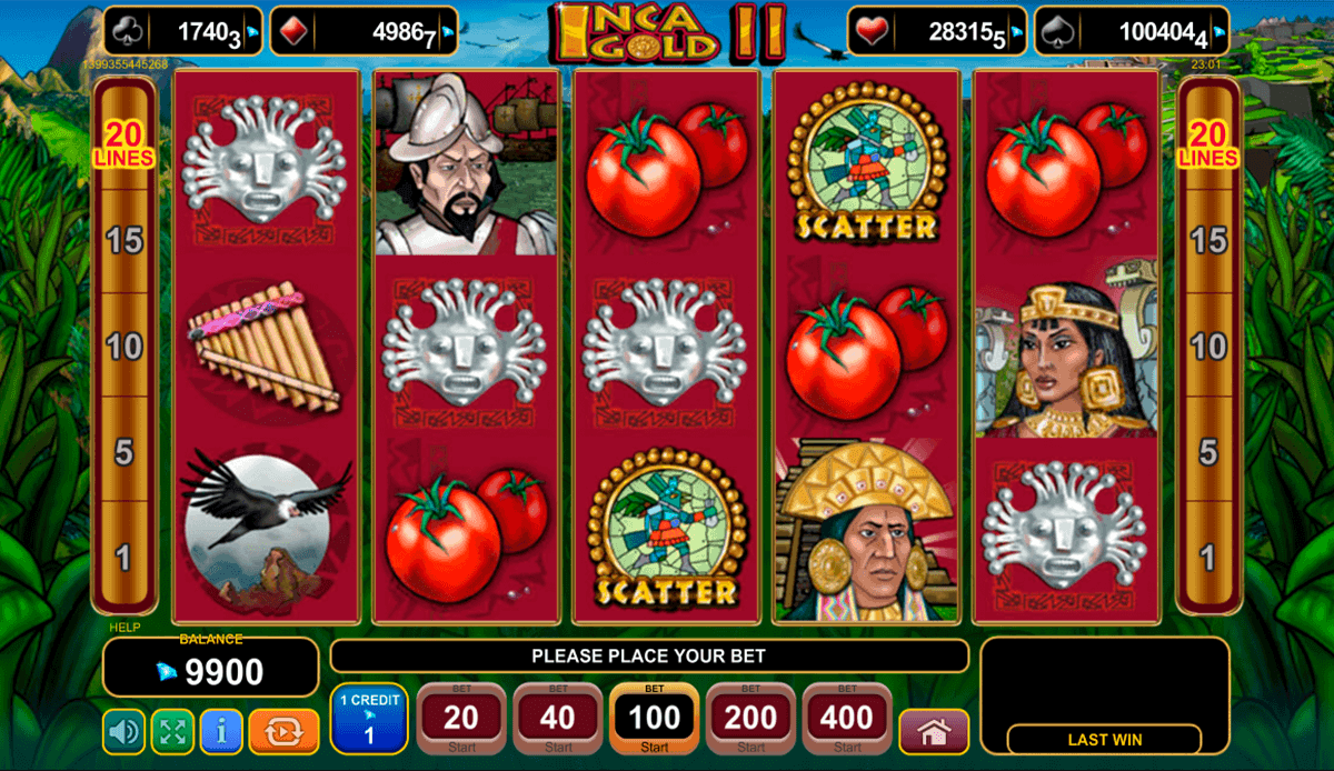 Inca Gold II Slots - Read a Review of this EGT Casino Game