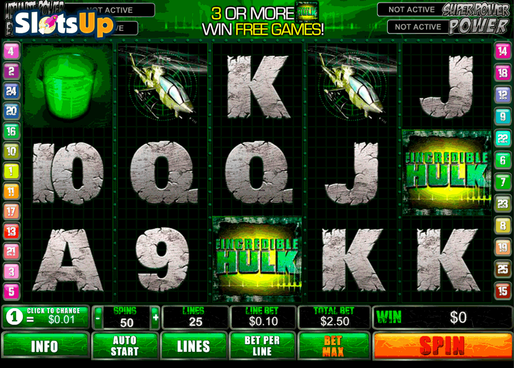 Incredible Hulk™ Slot Machine Game to Play Free in Playtechs Online Casinos