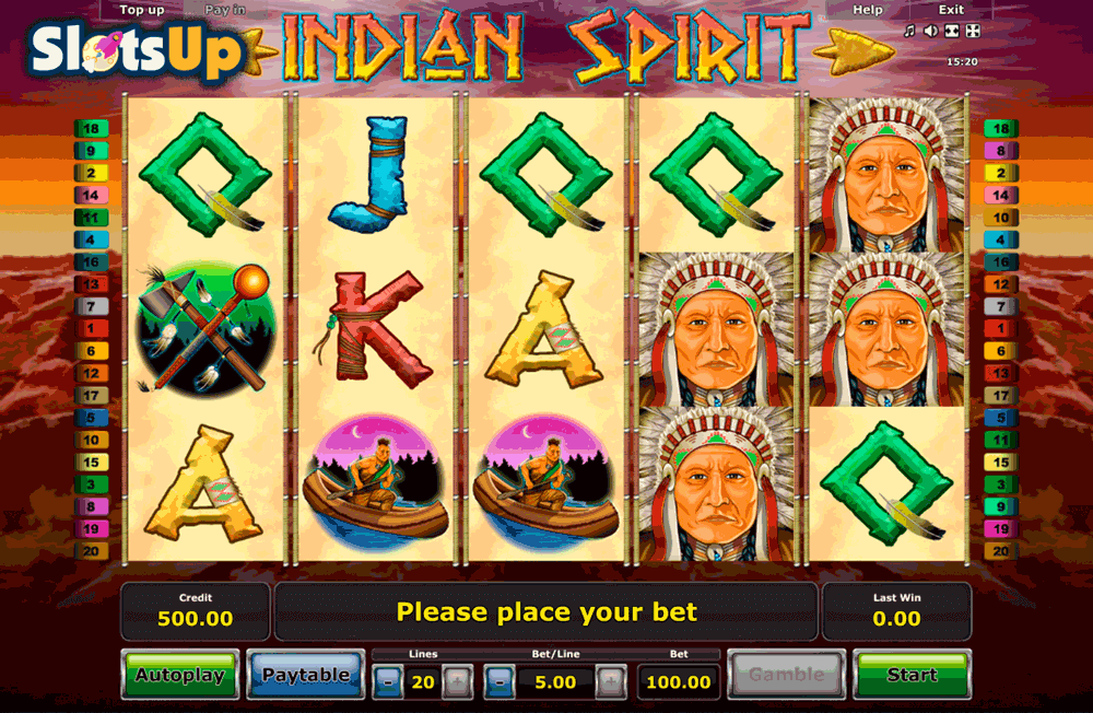 free online slots for fun indian spirit