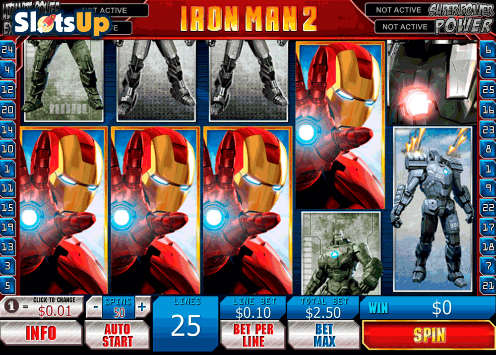 IRON MAN 2 PLAYTECH CASINO SLOTS