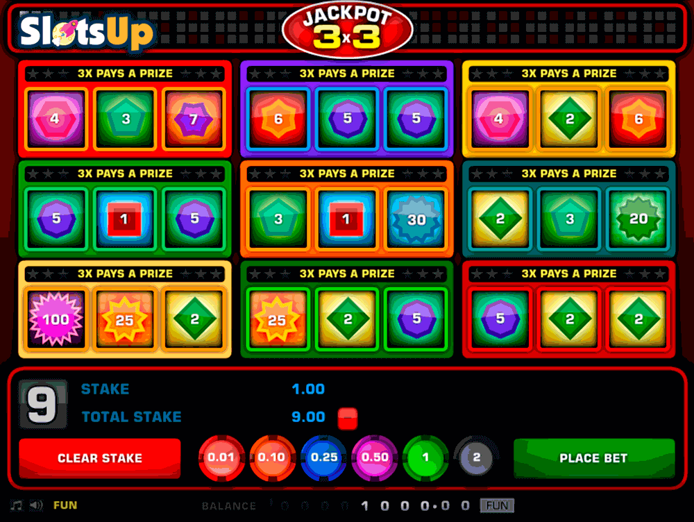 Jackpot 3x3 Slot Machine Online ᐈ 1X2gaming™ Casino Slots