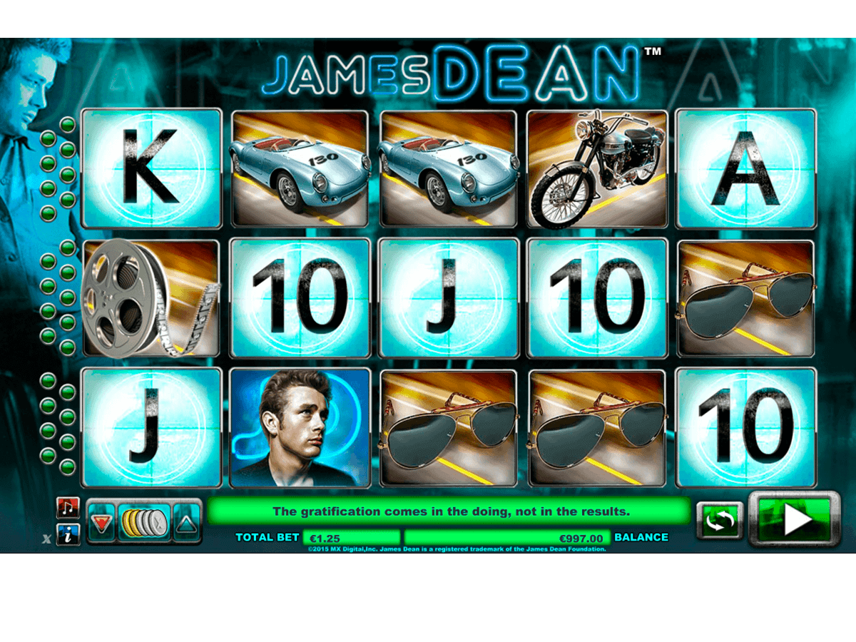 JAMES DEAN NEXTGEN GAMING CASINO SLOTS