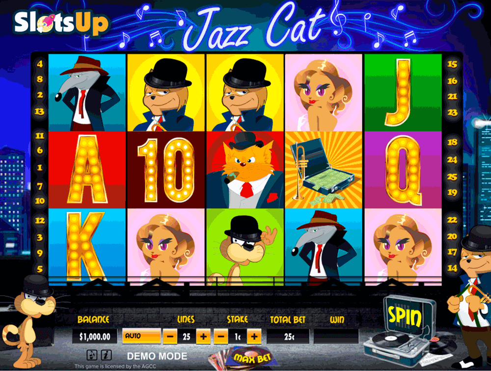 Jazz Cat Slots - Play Penny Slot Machines Online