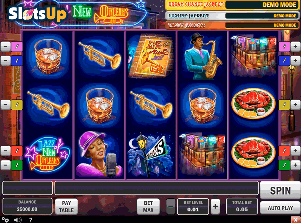 Jazz of New Orleans™ Slot Machine Game to Play Free in Playn Gos Online Casinos
