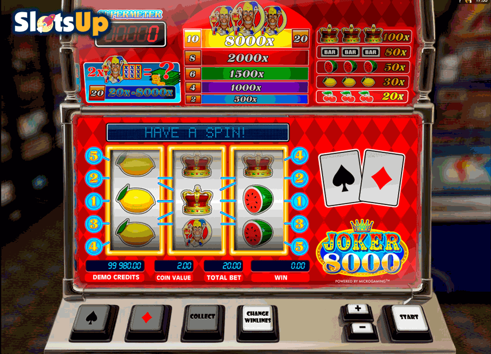 Joker 8000 Slots - Free Play & Real Money Casino Slots