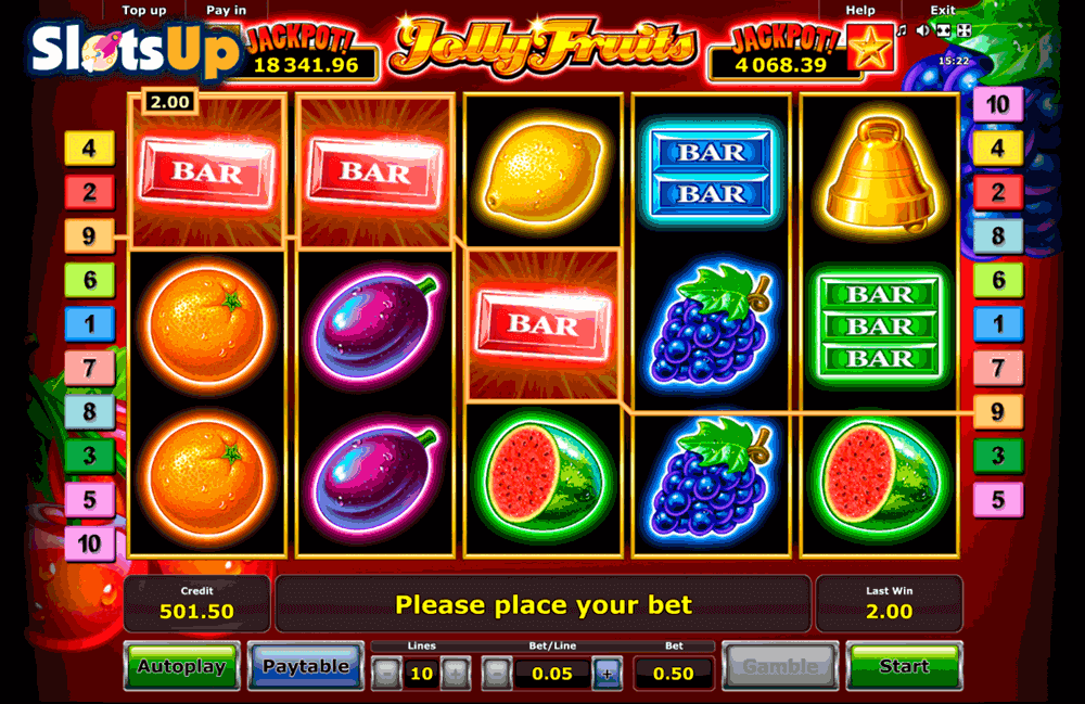 Jolly Fruits Slot - Play Novomatic Casino Games Online