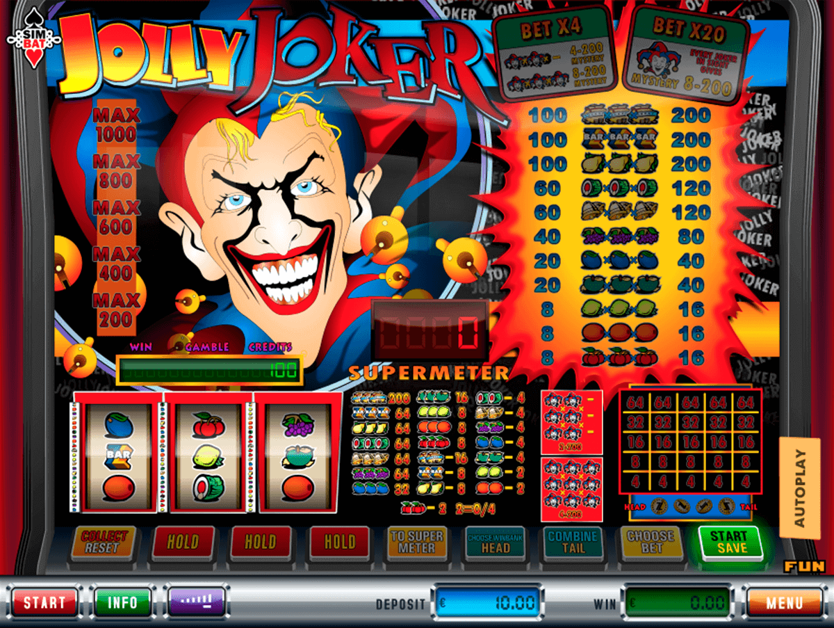 Jokers 4 Reel Slot - Free Online Casino Game by Simbat