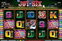 JOY OF SIX MICROGAMING CASINO SLOTS