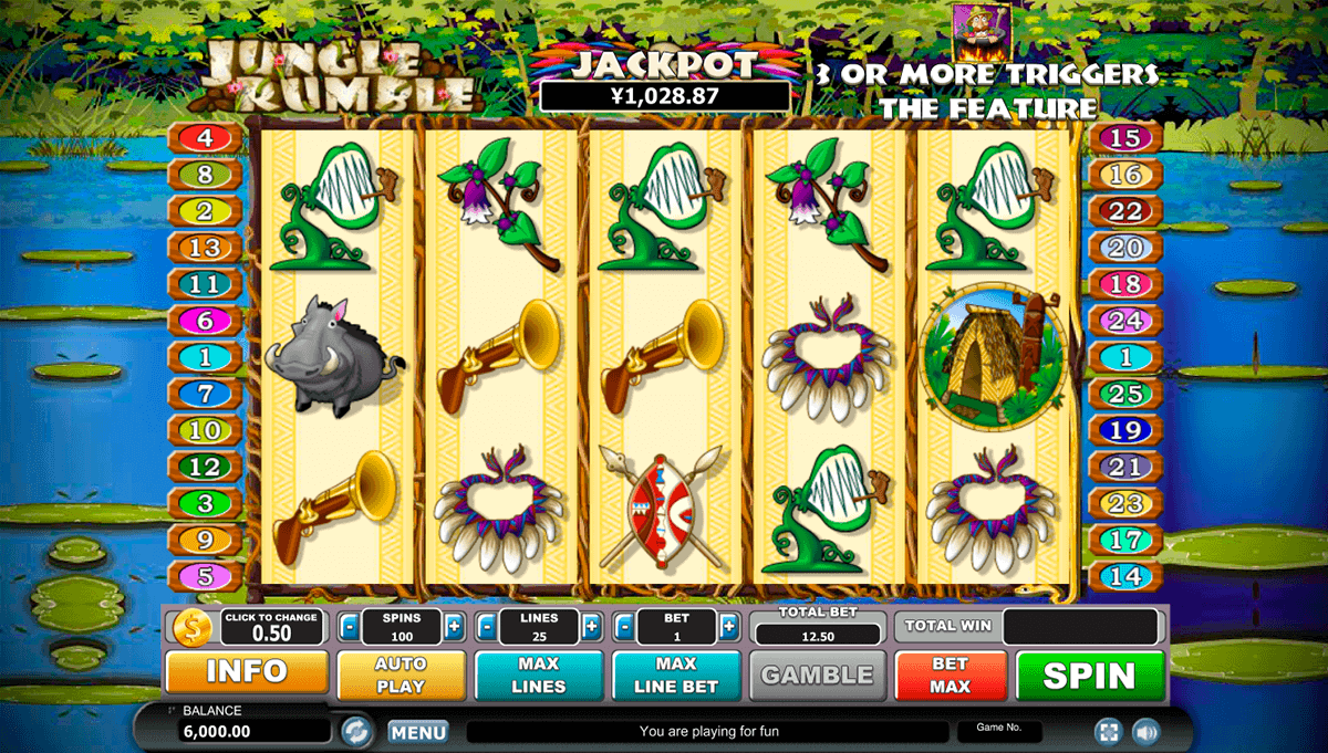 JUNGLE RUMBLE HABANERO SLOT MACHINE