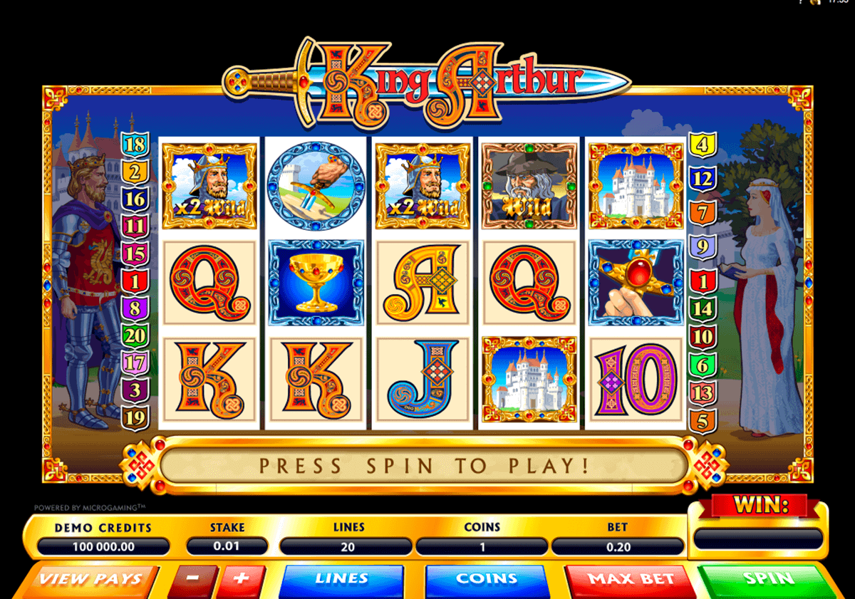 king arthur microgaming casino slots