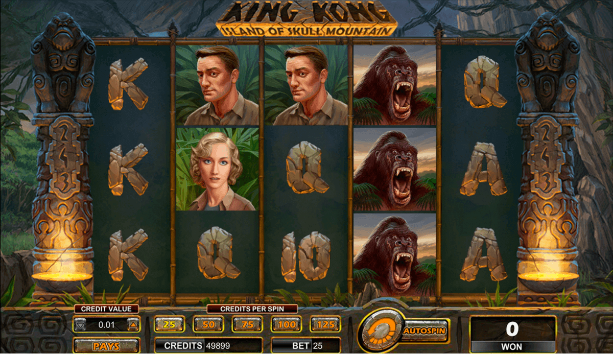 king kong video slots
