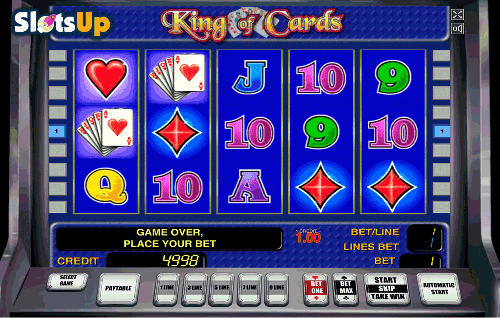 online vegas casino king of cards