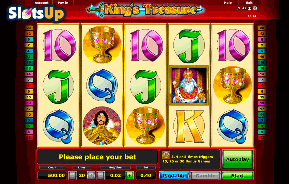 Kings Treasure Slot Machine - Play Online for Free