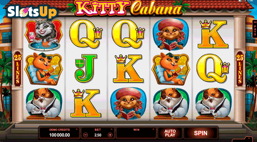 KITTY CABANA MICROGAMING CASINO SLOTS