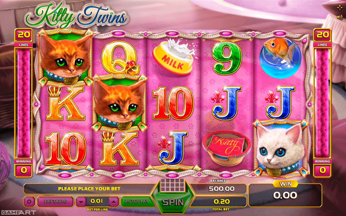 KITTY TWINS GAMEART SLOT MACHINE