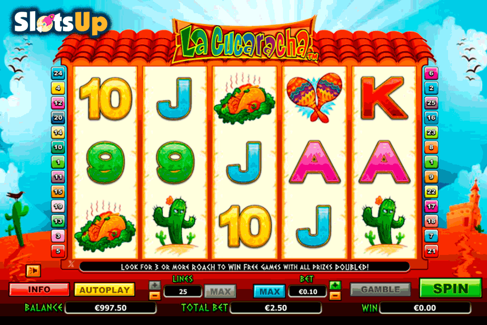 La Cucaracha Slot Machine Review & Free to Play Casino Game