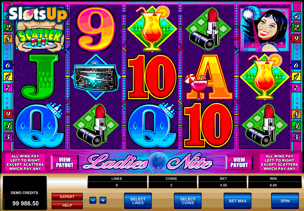 LADIES NITE MICROGAMING CASINO SLOTS
