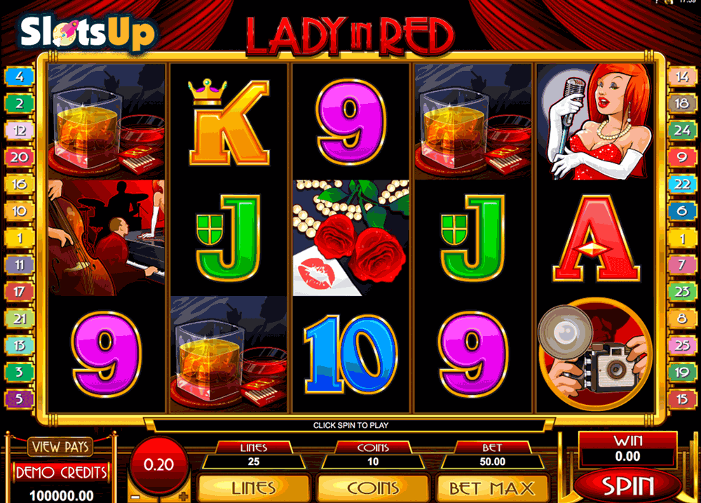 lady in red microgaming casino slots