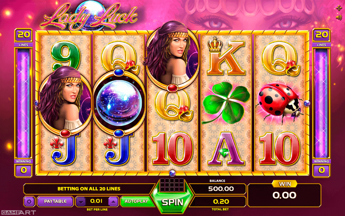 Lady of Fortune Online Slot Machine - Free Play Online Now