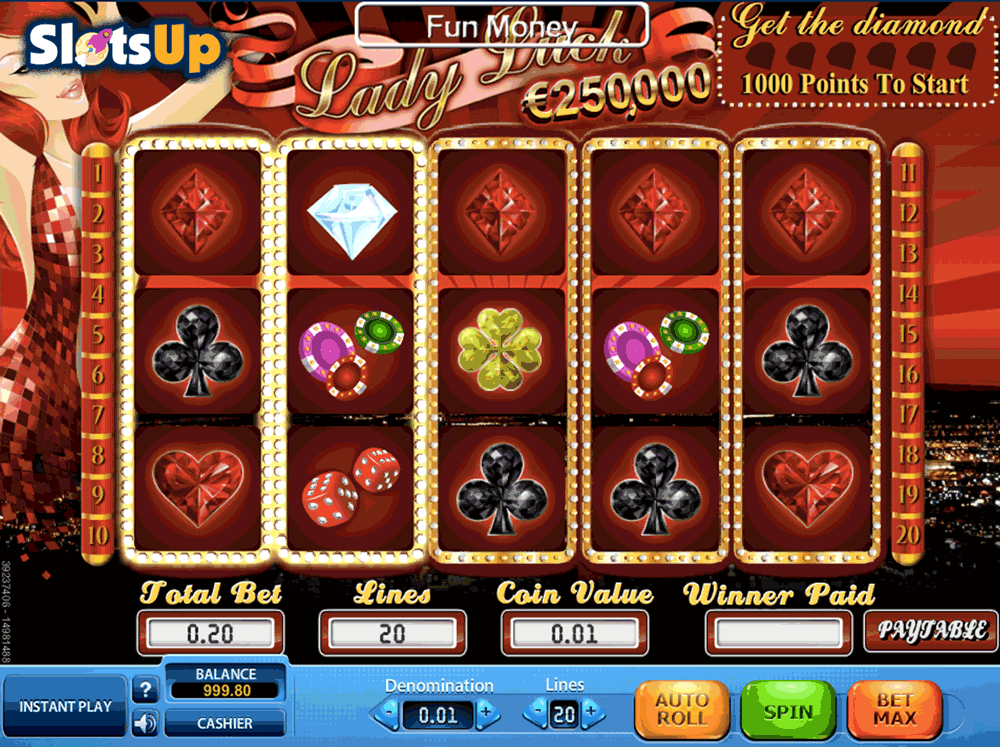 free casino games online slots with bonus lady lucky charm