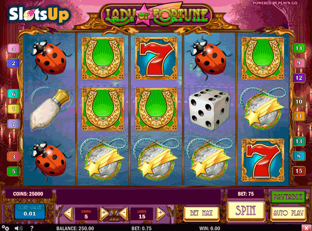 LADY OF FORTUNE PLAYN GO CASINO SLOTS