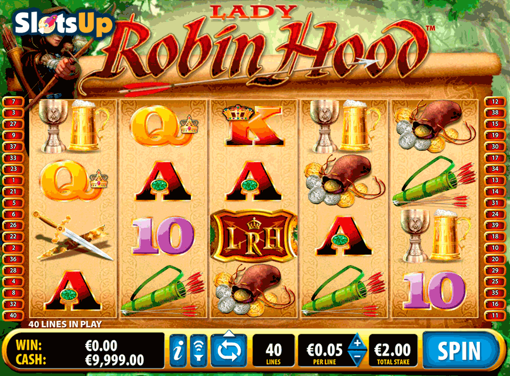 Lady Robin Hood™ Slot Machine Game to Play Free in Ballys Online Casinos