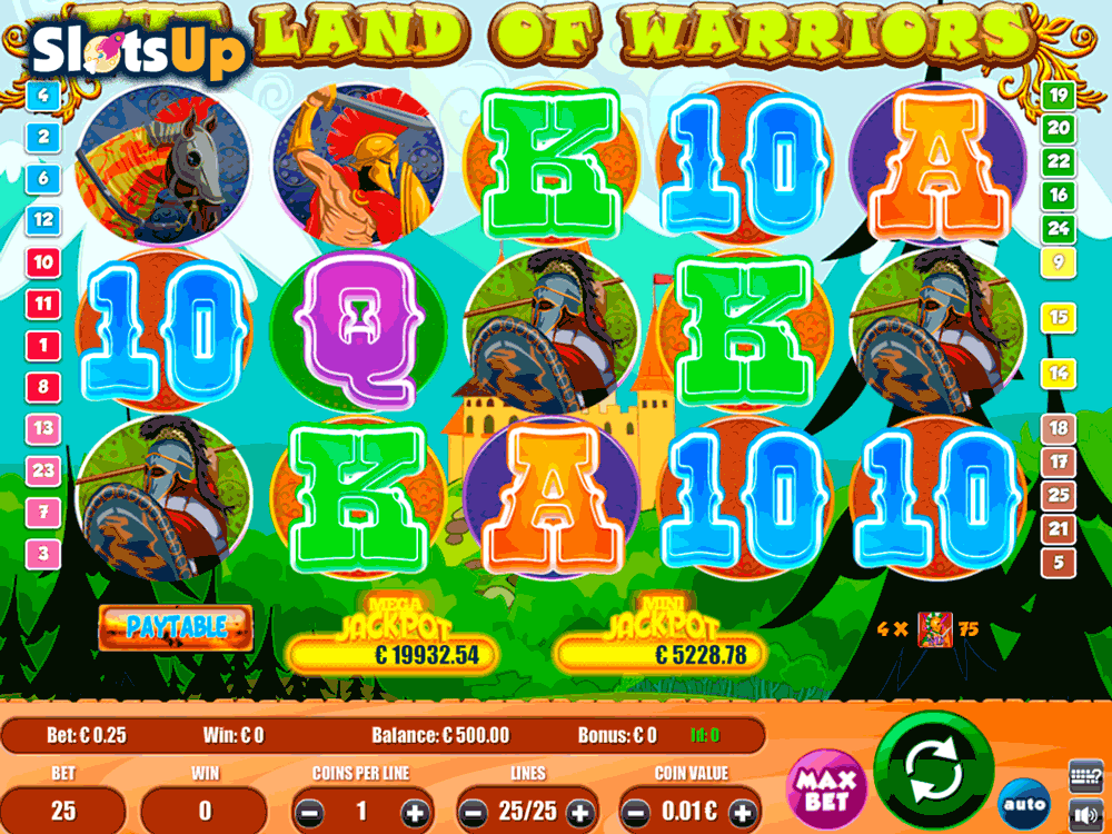 land of warriors portomaso casino slots